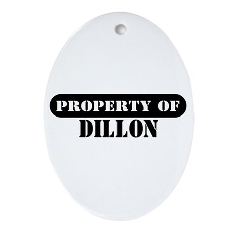 Property of Dillon Oval Ornament