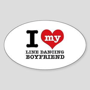I love my line Dance mom Sticker (Oval)