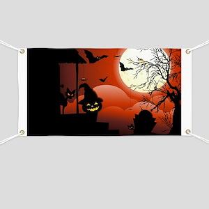 Halloween Bloody Moonlight Nightmare Banner