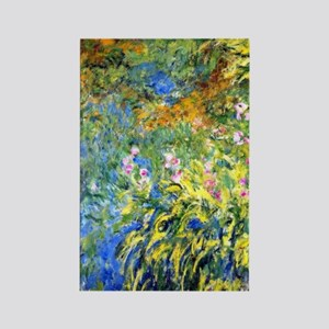 Monet - Irises 3 Rectangle Magnet