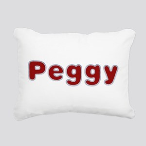 Peggy Santa Fur Rectangular Canvas Pillow