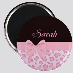 Girly Pink with Bow - Customized Magnet