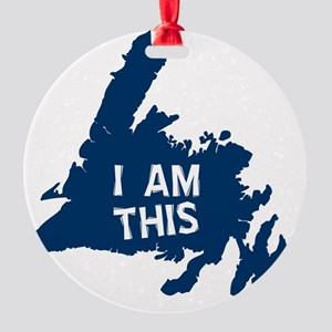 I Am This Round Ornament