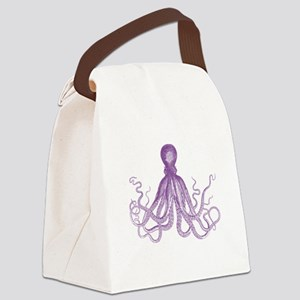 Purple Octopus Canvas Lunch Bag