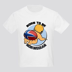"""Born to be Norwegian"" Kids Light T-Shirt"