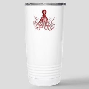 Burgundy Octopus Travel Mug