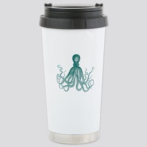 Dark Teal Octopus Travel Mug