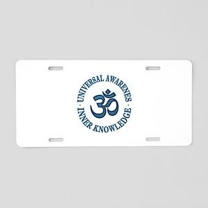 Om symbol Aluminum License Plate