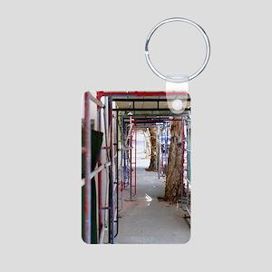 Construction Aluminum Photo Keychain