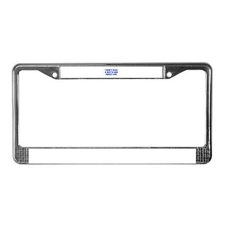 RATS-ASS-FRESH-BLUE License Plate Frame