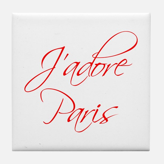 paris-scr-red Tile Coaster