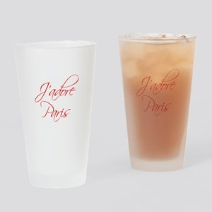 paris-scr-red Drinking Glass