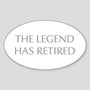 LEGEND-HAS-RETIRED-OPT-GRAY Sticker