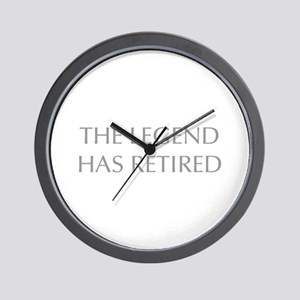 LEGEND-HAS-RETIRED-OPT-GRAY Wall Clock