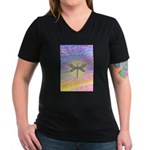 LetGo-Dragonfly (multi) Women's V-Neck Dark T-Shir