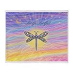LetGo-Dragonfly (multi) Throw Blanket