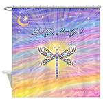LetGo-Dragonfly (multi) Shower Curtain
