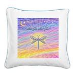 LetGo-Dragonfly (multi) Square Canvas Pillow