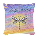 LetGo-Dragonfly (multi) Woven Throw Pillow