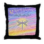 LetGo-Dragonfly (multi) Throw Pillow