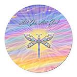 LetGo-Dragonfly (multi) Round Car Magnet