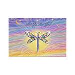 LetGo-Dragonfly (multi) Rectangle Magnet (100 pack