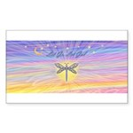 LetGo-Dragonfly (multi) Sticker (Rectangle 10 pk)