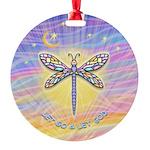 LetGo-Dragonfly (multi) Round Ornament