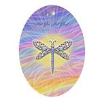 LetGo-Dragonfly (multi) Ornament (Oval)