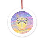 LetGo-Dragonfly (multi) Ornament (Round)
