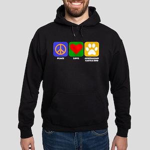 Peace Love Australian Cattle Dog Hoodie