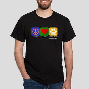 Peace Love Australian Cattle Dog T-Shirt
