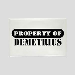 Property of Demetrius Rectangle Magnet