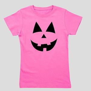 Pumpkin Face Girl's Tee