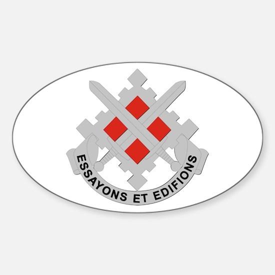 DUI-18th Engineer Brigade Sticker (Oval)