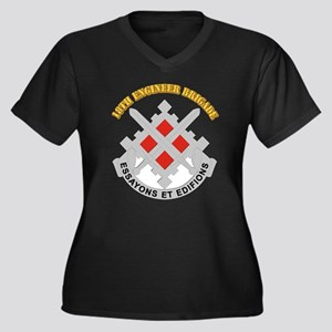 DUI-18th Engineer Brigade with text Women's Plus S