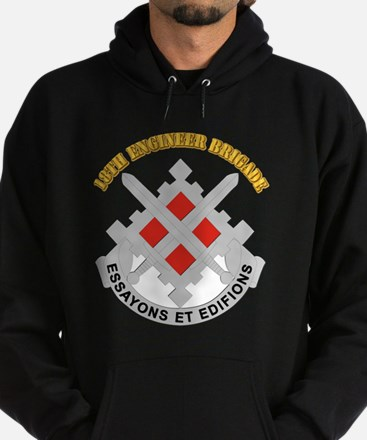 DUI-18th Engineer Brigade with text Hoodie (dark)