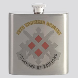 DUI-18th Engineer Brigade with text Flask