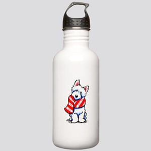 Westie Plaid Scarf Stainless Water Bottle 1.0L