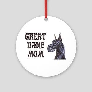 C Blk GD Mom Ornament (Round)