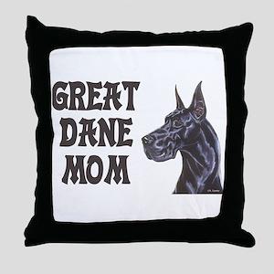 C Blk GD Mom Throw Pillow