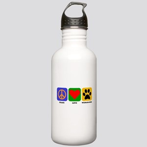 Peace Love Weimaraner Water Bottle