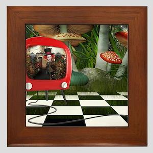 Wonderland TV Framed Tile