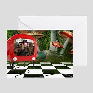 Wonderland TV Greeting Card
