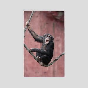 chimpanzee001 3'x5' Area Rug