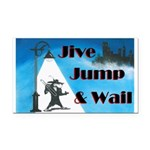 Jive Jump & Wail Rectangle Car Magnet