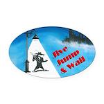 Jive Jump & Wail Oval Car Magnet