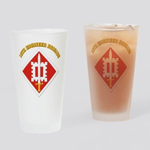 SSI-18th Engineer Brigade with text Drinking Glass