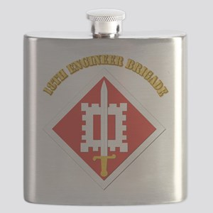 SSI-18th Engineer Brigade with text Flask