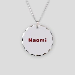 Naomi Santa Fur Necklace Circle Charm